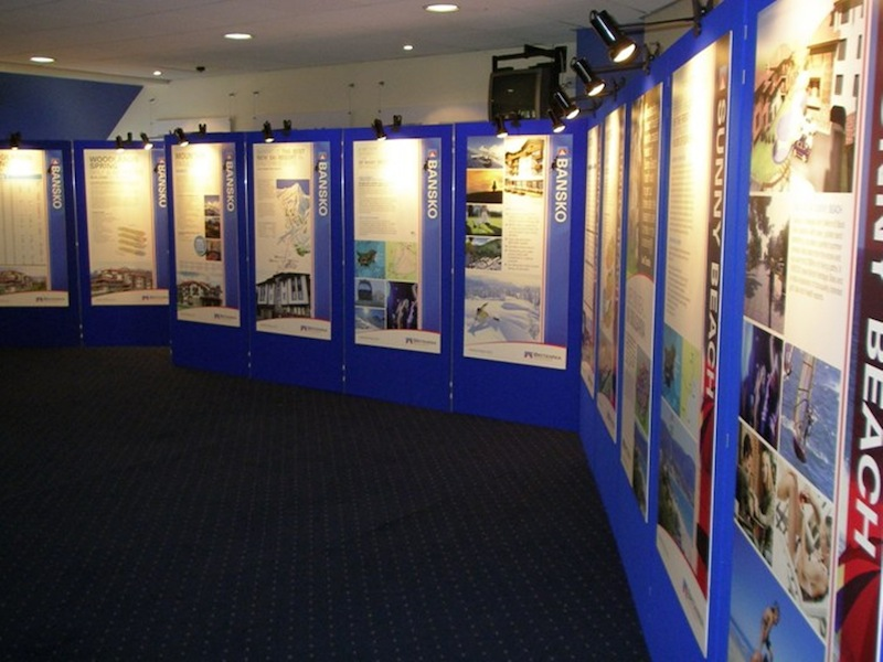 Exhibition Stand Panels : Creative use of poster display panels to draw exhibition